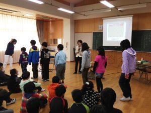川越南小学校 姿勢授業