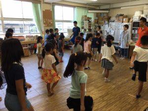 神前学童保育所 姿勢教室キャラバン