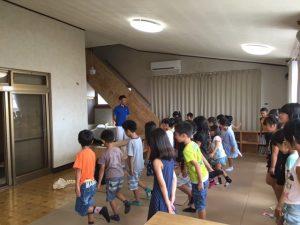 楠学童保育所 姿勢教室キャラバン