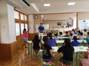 八郷西学童保育所 姿勢教室キャラバン